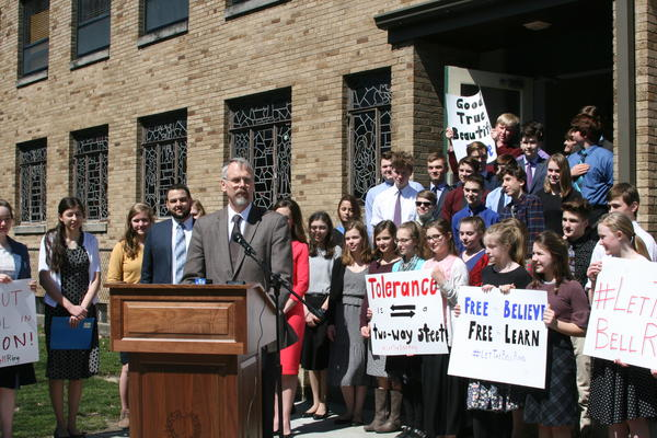The lawsuit against the South Euclid ordinance was announced at a news conference at the Lyceum in April 2019.