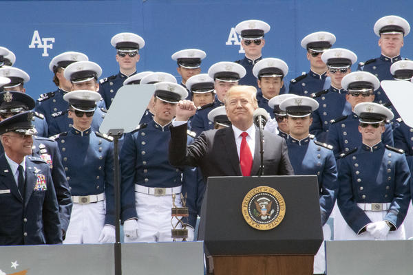 President Trump addresses members of the Air Force Academy class of 2019.