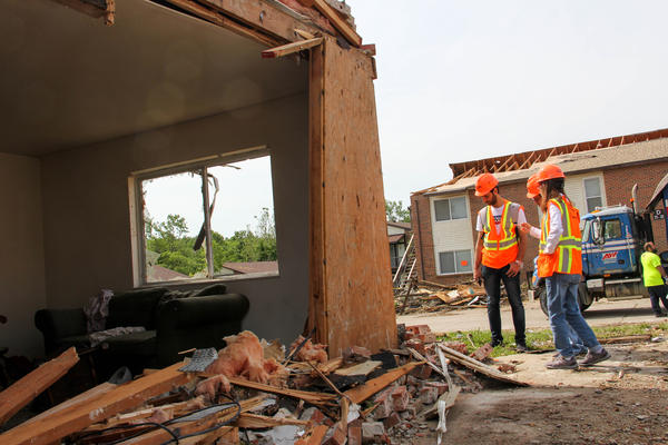 Missouri S&T engineering researchers inspected damaged homes in Jefferson City for a week after a tornado struck the area last Wednesday.
