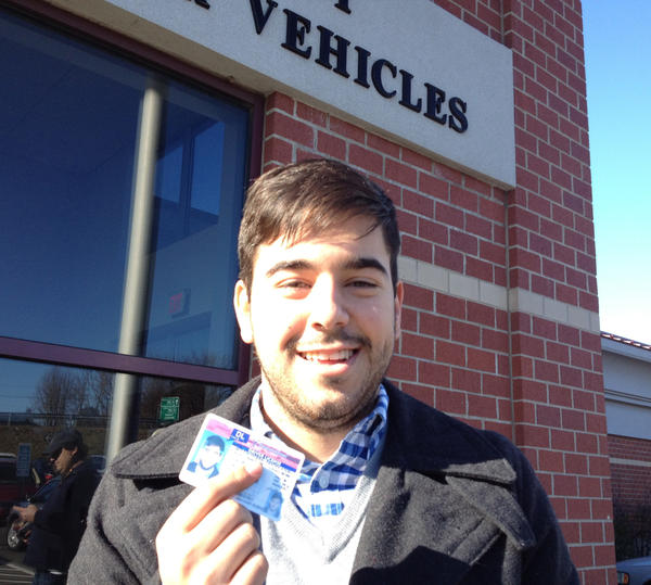 Lucas Codognolla, 22, receives his license after qualifying for it under President Obama's federal immigration policy, which allows some young immigrants who are in the country illegally to stay in the U.S. for at least two years.