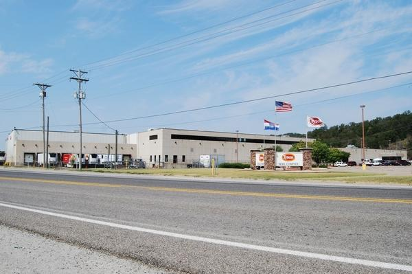 Just a short walk from Main Street sits the Tyson slaughterhouse, which employs about 1,500 people