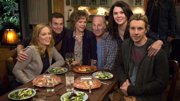 The stars of <em>Parenthood</em> include, left to right, Erika Christensen Peter Krause, Bonnie Bedelia, Craig T. Nelson, Lauren Graham and Dax Shepard.