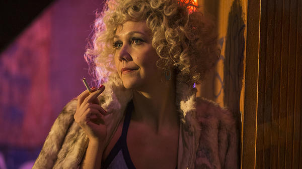 Maggie Gyllenhaal plays Candy, a prostitute who begins to see a way off the street, in HBO's <em>The Deuce</em>.