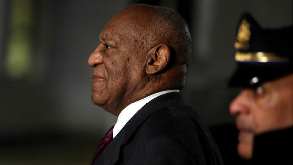 Bill Cosby departs the Montgomery County Courthouse in Norristown, Pa., on Wednesday.