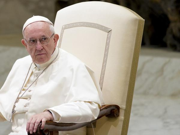 Pope Francis holds his weekly general audience at the Vatican on Wednesday. Pressure is mounting on the pontiff as more and more church sexual abuse scandals unfold around the world.