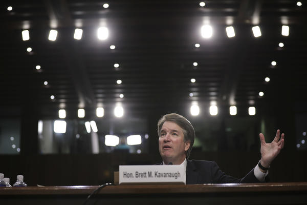 Supreme Court nominee Brett Kavanaugh testifies before the Senate Judiciary Committee on Sept. 6, the third day of his confirmation hearing.