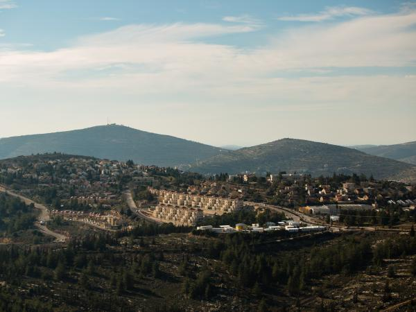 Some residents of the Israeli settlement Eli, shown here in 2016, have rented out properties there using Airbnb.