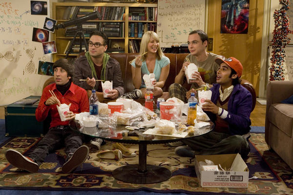 """The characters in <em>The Big Bang Theory </em>were """"outliers"""" who formed a """"surrogate family,"""" says show co-creator Chuck Lorre. Above, Simon Helberg, left, Johnny Galecki, Kaley Cuoco, Jim Parsons and Kunal Nayyar."""
