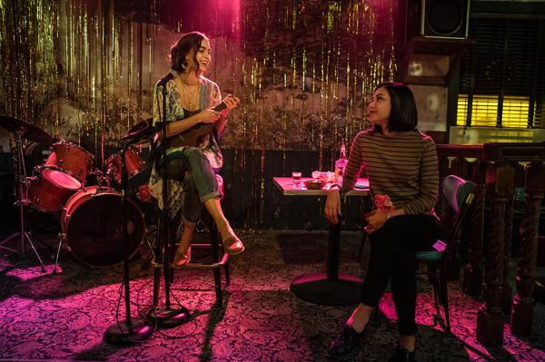 "Melissa Barrera (""Lynn) and Michel Prada (""Emma"") from the show <em>Vida. </em>"