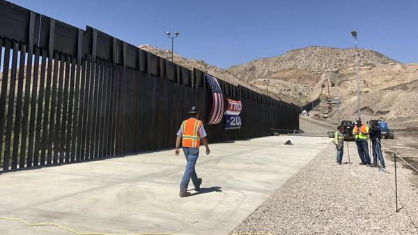 Construction is nearly complete in New Mexico on a section of border wall built with private funds raised by a nonprofit called We Build The Wall.