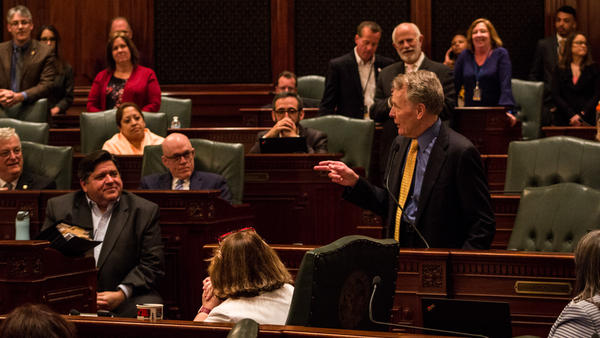 """This has been an extraordinarily productive session of the General Assembly. Simply historic,"" House Speaker Michael Madigan said to his colleagues and Gov. J.B. Pritzker, just before the end of the 2019 legislative session."