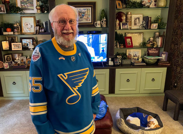 John Oefelein used to be in charge of recruiting referees for hockey games in the St. Louis area. He's purchased season tickets every year of the St. Louis Blues' existence.