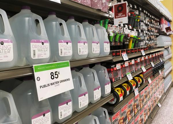 Stocking up on food and drinking water is one of the best ways to prepare for a hurricane.