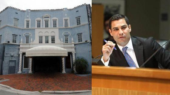 City of Miami Mayor Francis Suarez is fighting for the conservation of the Coconut Grove Playhouse.