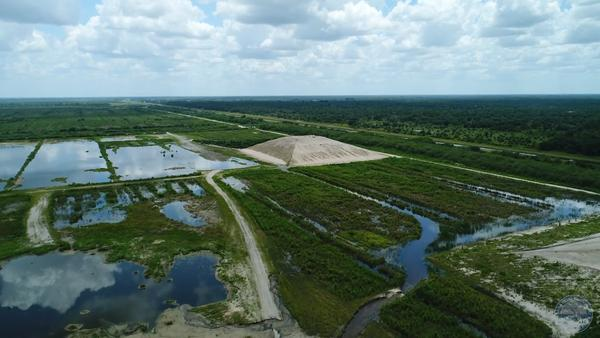 The construction site of the Caloosahatchee River (C-43) West Basin Storage Reservoir in Hendry County