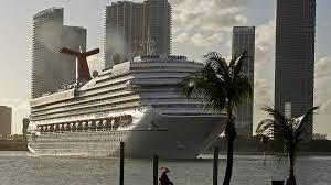 Carnival Glory heads out of Government Cut in 2011.