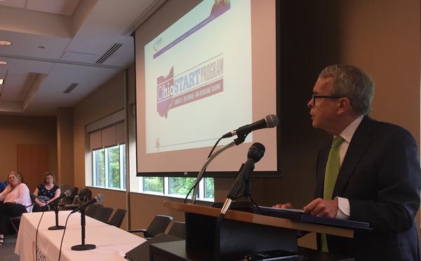 Gov. Mike DeWine speaks at the Ohio START summit in Columbus.