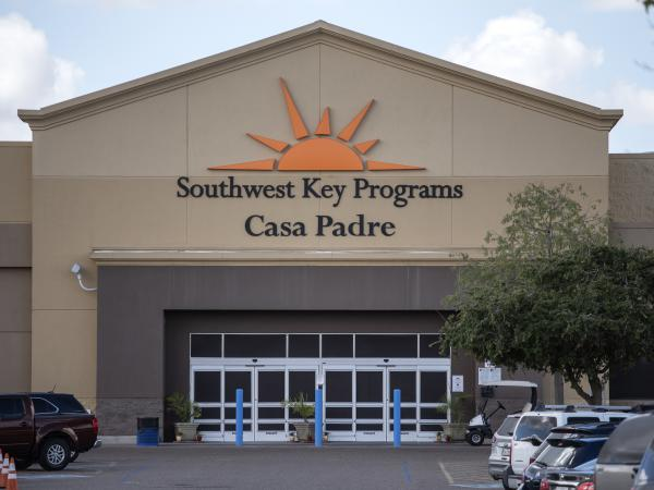 The Southwest Key-Casa Padre Facility in Brownsville, Texas, formerly a Walmart, is one of more than 150 federally contracted shelters for unaccompanied minors that will lose educational and legal programs as a result of the mandate by Health and Human Services.