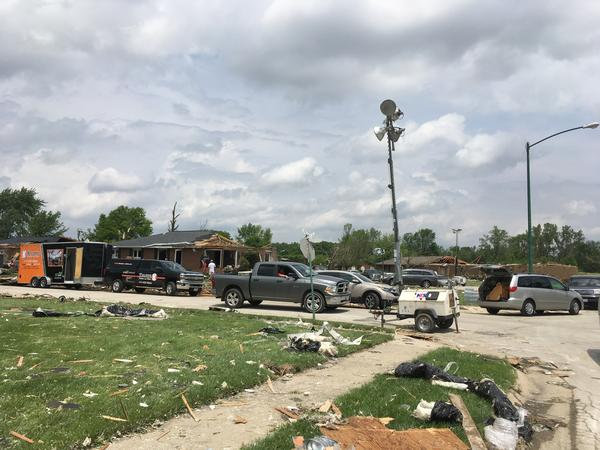 Celina, in Mercer County, was particularly hard hit by Monday night's tornado.
