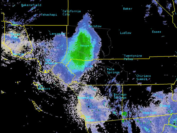 A huge blob that appeared on the National Weather Service's radar wasn't a rain cloud, but a massive swarm of ladybugs over San Bernardino County in Southern California.