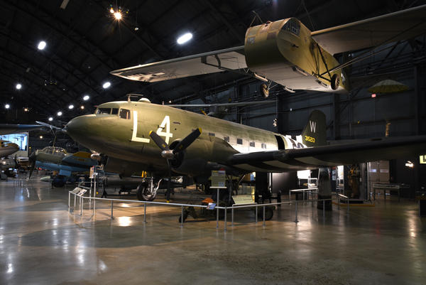 The Douglas C-47 and Waco CG-4A glider took part in D-Day. Both aircraft can be found in the WWII Gallery at the National Museum of the U.S. Air Force near Dayton.