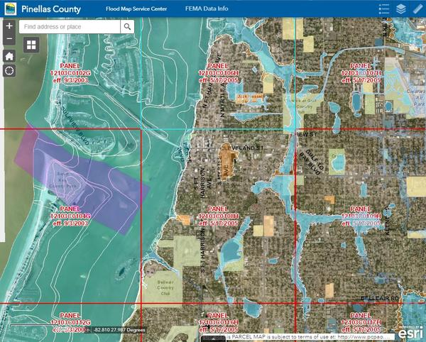 Updated Pinellas County flood zone map. The county will be discussing changes to the zones at three upcoming public meetings.
