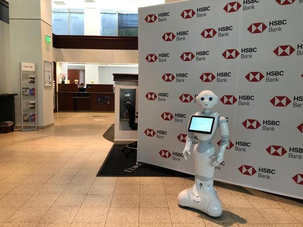 'Pepper' greets visitors to HSBC's Brickell branch.