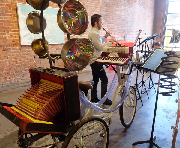 The Akropolis Reed Quintet is bringing a percussion bicycle to the Together We Sound music festival
