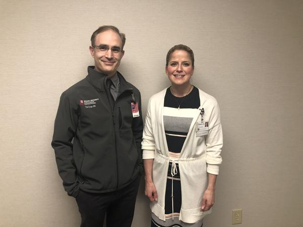 Dr. Tim Large and Dr. Amy Krambeck