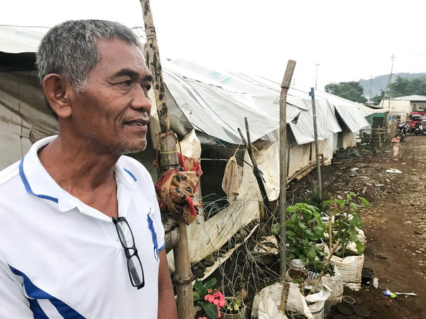"Olowan Magarang, 61, lost his home, business and mushroom farm during the ISIS siege in Marawi, Philippines. He said he worked as a medical technician in the Middle East, where he saved enough money to return to the city to build a house and business. ""Now, it is all gone,"" he says."