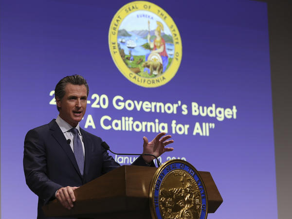California Gov. Gavin Newsom, pictured in January, must sign off on the latest state budget by June 15. The new $213 billion plan includes an expansion of the state's Medicaid program for low-income adults under the age of 26, regardless of immigration status.