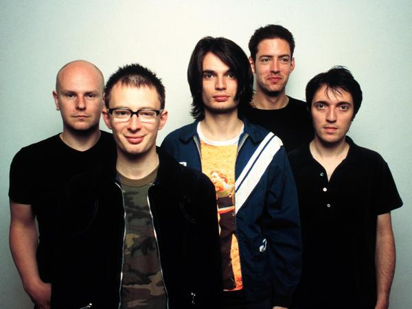 Radiohead, pictured in 1997, around the original release of <em>OK Computer.</em>