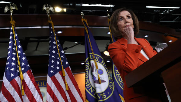 House Speaker Nancy Pelosi, D-Calif., holds a news conference on June 5. The House is voting Tuesday on a resolution to authorize lawsuits to obtain information on the Mueller investigation.