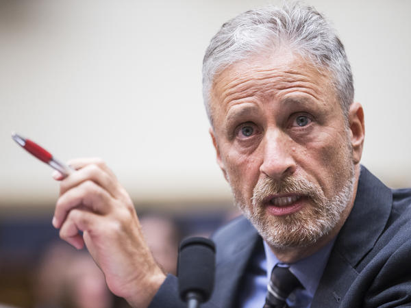 Jon Stewart testifies during a House Judiciary subcommittee hearing on the reauthorization of the September 11th Victim Compensation Fund.