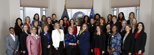 The bipartisan group of female lawmakers in the Nevada Legislature.