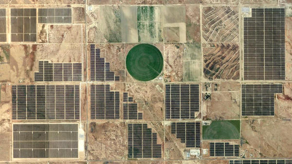 The northern Antelope Valley in California is home to a number of large-scale solar panel installations.