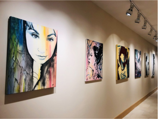 Lori Pratico's art on display at Holy Cross Hospital.