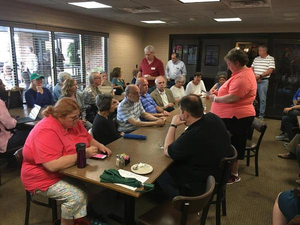 Members of the St. Louis County Democratic Central Committee met on June 8, 2019, in Bridgeton to choose the party's 2nd District nominee.