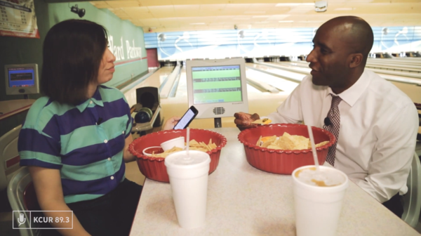 KCUR's Lisa Rodriguez sat down with Kansas City, Missouri, mayoral candidate Quinton Lucas at Ward Parkway Lanes.