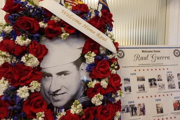 52 years after he died in a Vietnam plane crash, Raul Guerra's memorial service was held at Risher Mortuary in Montebello, Cal.