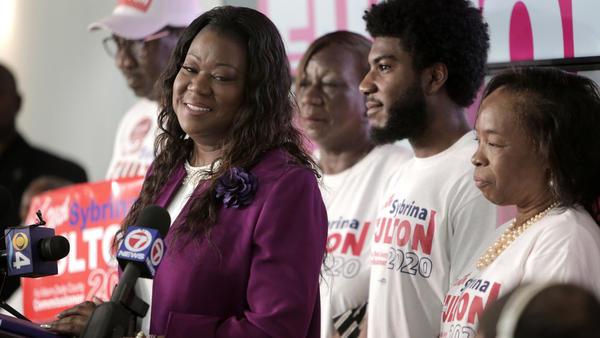 Sybrina Fulton, Trayvon Martin's mother, announces her candidacy for the Miami-Dade County Commission.