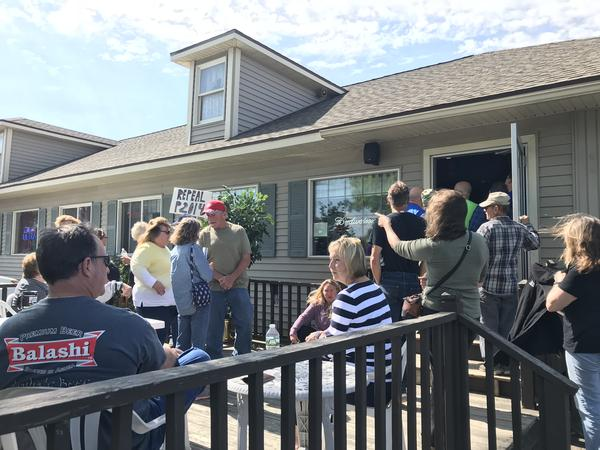 A large crowd of landowners along Lake Ontario gathered in Pulaski recently to rally for legal action against the government as they deal with damaging flooding to their properties.