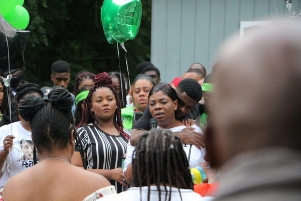 Jaleta Clark, the mother of Brandon Webber, spoke at her son's vigil on Friday. She said Webber was smart and loving.