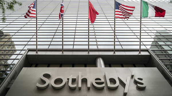 Sotheby's says its board has accepted a purchase offer from telecom billionaire Patrick Drahi. Here, the auction house's headquarters are seen on Manhattan's Upper East Side.
