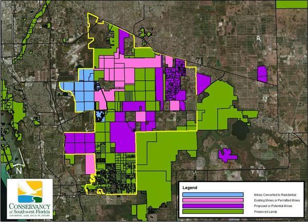 Southweset Florida Lime Rock Mining Map