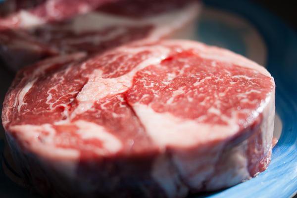 A raw steak, January 2012.