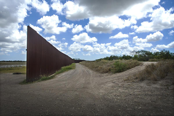 A section of the border wall in Brownsville, Texas.