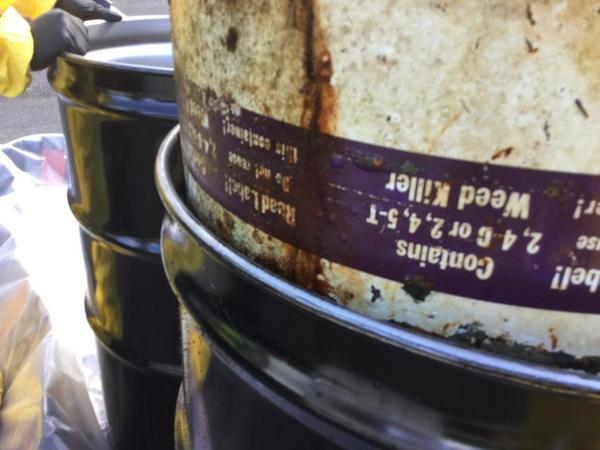 <p>A barrel that once contained either 2,4,5-T or 2,4-D was removed from Wallowa Lake. When combined at high strengths, those chemicals create Agent Orange, an herbicide that was used during the Vietnam War, with devastating consequences.</p>