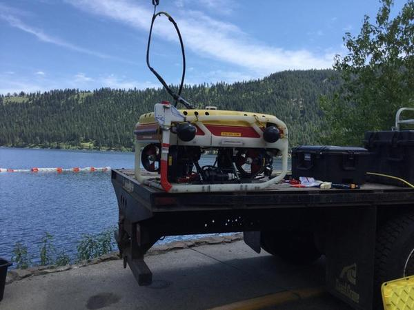 <p>The EPA used an ROV, a sort of underwater robot submarine, to locate the barrels.</p>