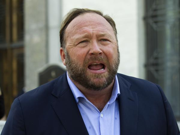 Alex Jones, pictured in 2018, was sanctioned by a Connecticut judge on Tuesday after railing on the attorney representing victims' families in a defamation suit against the Internet provocateur.